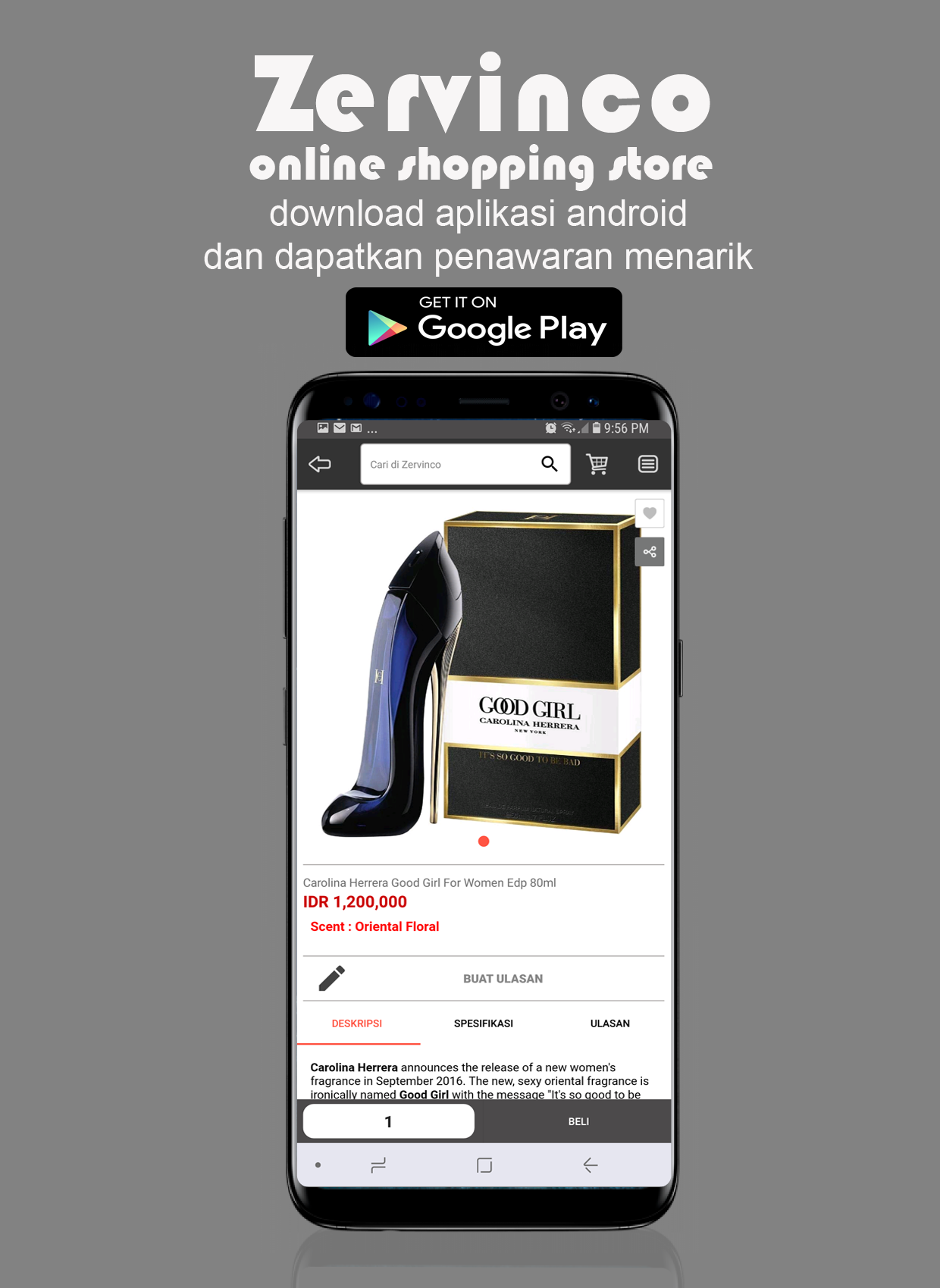 Zervinco Android App